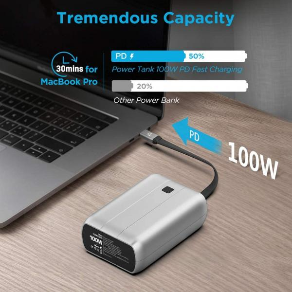 Portable Charger,26800 mAh 100W Dual USB C PD Power Bank Compatible with MacBook Pro 16