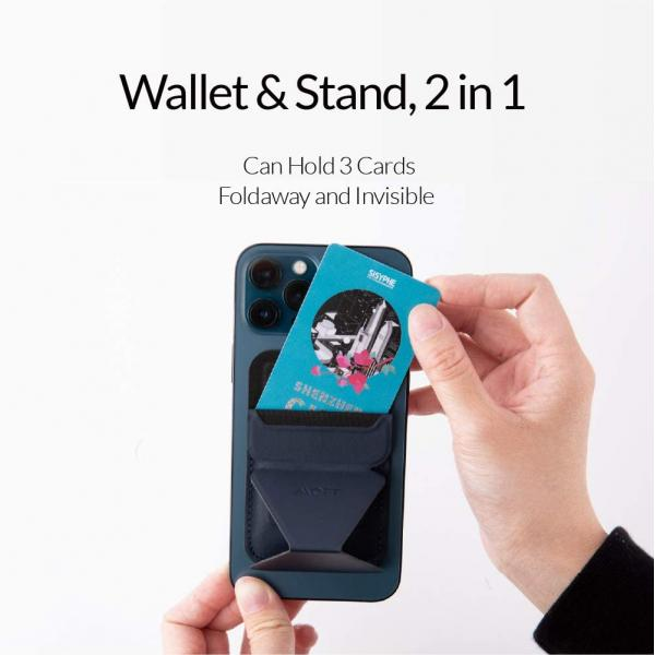 MOFT The First Snap-On Magnetic Stand & Wallet for iPhone 12 Series for iPhone 12/12 Mini/12 Pro/12 Pro Max (purple)