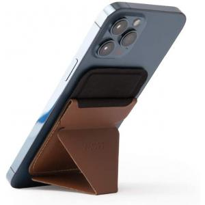 MOFT Snap-On Phone Stand & Wallet (MagSafe® Compatible) -Brown