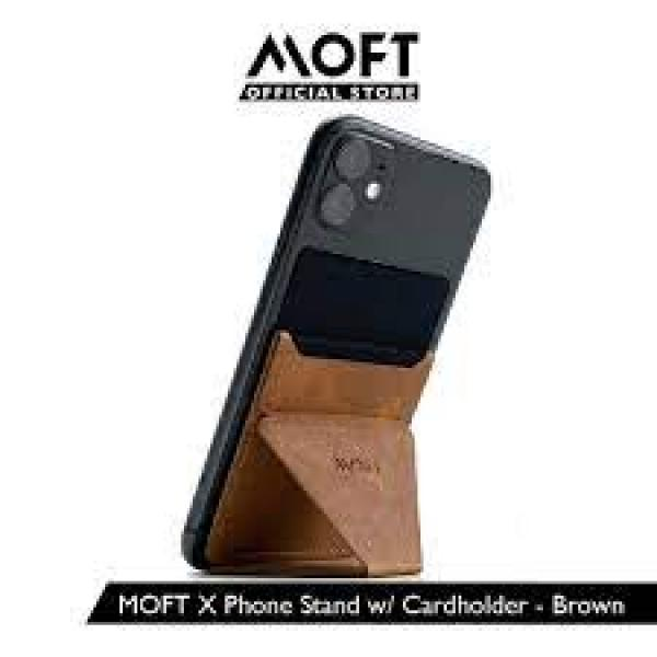 MOFT X Adhesive Phone Stand -Leather Brown