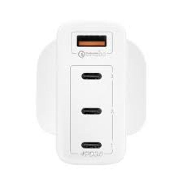 Momax One Plug 100W 4-Port Gan Charger White With Lightning To Type-C Cable -1.2M