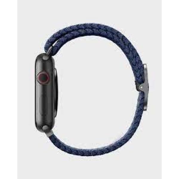 Uniq Aspen Braided Apple Watch Strap 44/42Mm Granite Grey