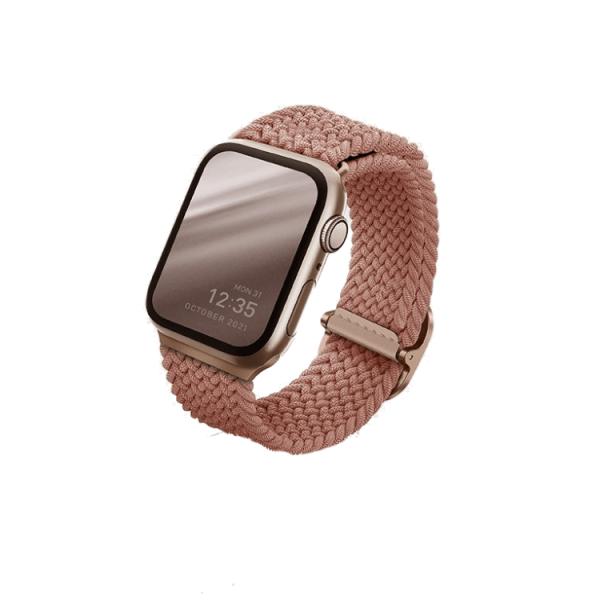 Uniq Aspen Braided Apple Watch Strap 44/42Mm Grapefruit Pink