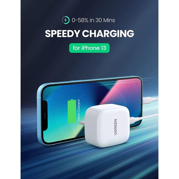 Ugreen USB-C PD3.0 20W Charger -White
